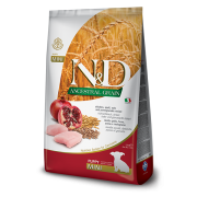 Корм Farmina N&D для щенков мелких пород с курицей и гранатом и спельтой, низкозерновой